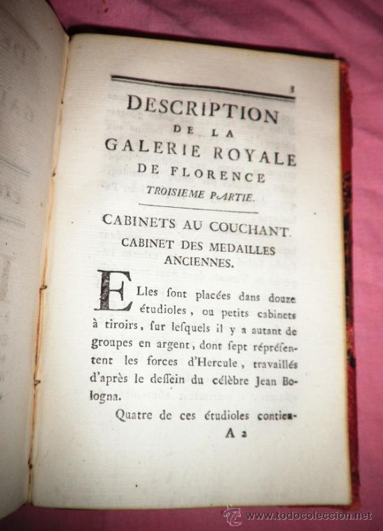 Libros antiguos: DESCRIPCION DE LA GALERIA ROYAL DE FLORENCIA - F.ZACCHIROLI - AÑO 1783. - Foto 7 - 38540343