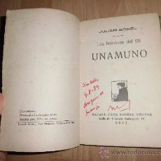 Libros antiguos: LOS HOMBRES DEL 98 UNAMUNO JULIAN SOREL RAFAEL CARO RAGGIO EDITOR 1917. Lote 38581279