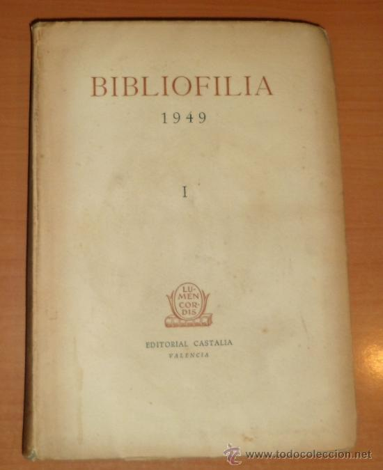 LIBRO: BIBLIOFILIA (1949) (Libros Antiguos, Raros y Curiosos - Bellas artes, ocio y coleccionismo - Otros)
