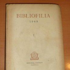 Libros antiguos: LIBRO: BIBLIOFILIA (1949). Lote 38612510