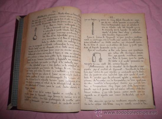 Libros antiguos: APUNTES DE FISICA APLICADA A LA FARMACIA - AÑO 1890 - LIBRO MANUSCRITO ILUSTRADO. - Foto 3 - 38715045