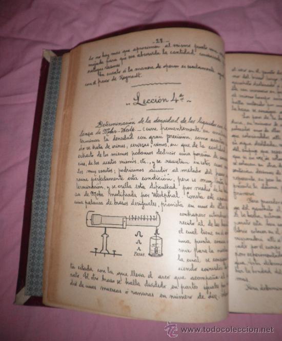 Libros antiguos: APUNTES DE FISICA APLICADA A LA FARMACIA - AÑO 1890 - LIBRO MANUSCRITO ILUSTRADO. - Foto 4 - 38715045
