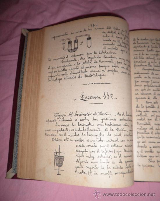 Libros antiguos: APUNTES DE FISICA APLICADA A LA FARMACIA - AÑO 1890 - LIBRO MANUSCRITO ILUSTRADO. - Foto 5 - 38715045