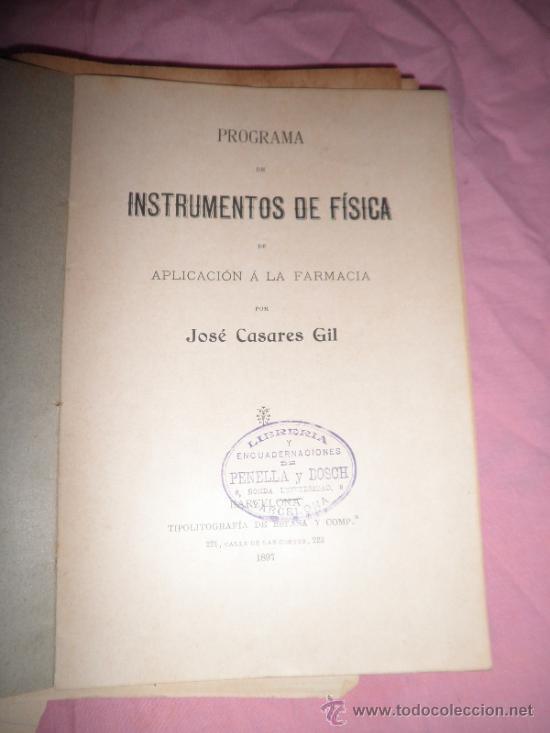 Libros antiguos: APUNTES DE FISICA APLICADA A LA FARMACIA - AÑO 1890 - LIBRO MANUSCRITO ILUSTRADO. - Foto 7 - 38715045