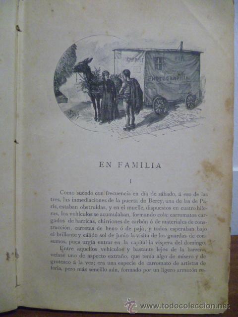 Libros antiguos: EN FAMILIA POR HÉCTOR MALOT - ILUSTRACIONES DE LANOS - MONTANER Y SIMÓN 1895 - Foto 5 - 38794765