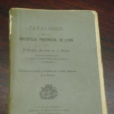 Libros antiguos: CATÁLOGOS DE LA BIBLIOTECA PROVINCIAL DE LEÓN. 1875. 1ª EDICIÓN. CATALOGO DE AUTORES Y POR MATERIAS.. Lote 38854461