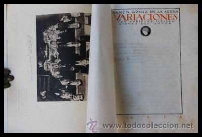 VARIACIONES.1 EDICIÓN. RAMÓN GOMEZ DE LA SERNA.EDITORIAL ATENEA 1922.VANGUARDIAS (Libros antiguos (hasta 1936), raros y curiosos - Literatura - Narrativa - Otros)