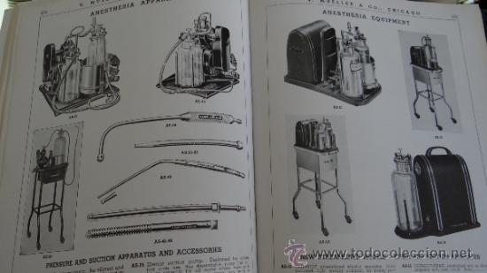 Libros antiguos: INMENSO CATALOGO DE INSTRUMENTOS DE MEDICINA CIRUGÍA LABORATORIO FARMACIA CLINICA. MUELLER .1938 USA - Foto 6 - 38999575