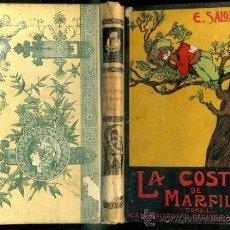 Libros antiguos: EMILIO SALGARI : LA COSTA DE MARFIL TOMO I - CALLEJA, TAPA DURA. Lote 275035638