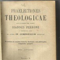 Libros antiguos: LIBRO EN FRANCÉS. PRAELECTIONES THEOLOGICAE. IONNES PERRONE. VOLUMEN II. 1886. Lote 39053661