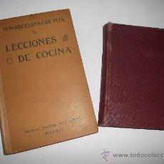 Libros antiguos: COCINA LOTE DOS LIBROS: PITA LECCIONES DE COCINA, SRA. MARTIN: GOLOSINAS (1905) DEFECTOS.. Lote 39054788
