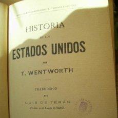 Libros antiguos: HISTORIA DE LOS ESTADOS UNIDOS. THOMAS WENTWORTH. Lote 39133307