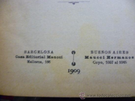 Libros antiguos: El dolor ajeno 2 - por Jerónimo Rovetta - año 1909 - Foto 3 - 39236678