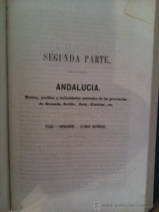 Libros antiguos: LA ALHAMBRA, RELATOS DE GRANADA. RECUERDOS DE ANDALUCIA - Foto 2 - 39245807