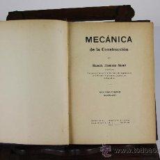 Libros antiguos: 5957- MECANICA DE LA CONSTRUCCION. TERMENS MAURI. TIP. ORTEGA. TOMOS I Y II. 1932.. Lote 39295733