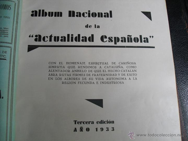 Libros antiguos: 1933 ALBUM NACIONAL DE LA ACTUALIDAD ESPAÑOLA DEDICADO A CATALUÑA CON MOTIVO DE SU AUTONOMIA - Foto 4 - 39328513