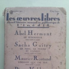 Libros antiguos: LES OEUVRES LIBRES. 1921. Lote 39366473