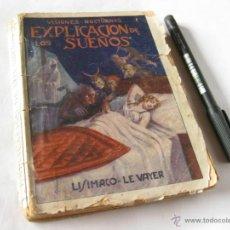 Libros antiguos: LIBRO Y EXPLICACION DE LOS SUEÑOS. VISIONES NOCTURNAS. LISIMACO LE VAYER . Lote 39410479