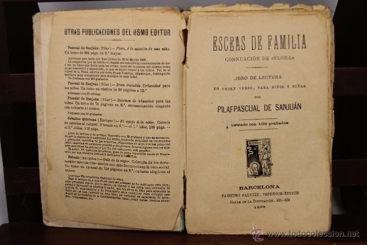 3910- ESCENAS DE FAMILIA Y FLORA. PILAR PASCUAL DE SAN JUAN. EDIT. PALUZIE. 1895/1898. 2 TITULOS. (Libros Antiguos, Raros y Curiosos - Literatura Infantil y Juvenil - Otros)