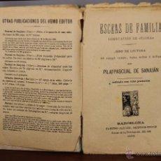 3910- ESCENAS DE FAMILIA Y FLORA. PILAR PASCUAL DE SAN JUAN. EDIT. PALUZIE. 1895/1898. 2 TITULOS.