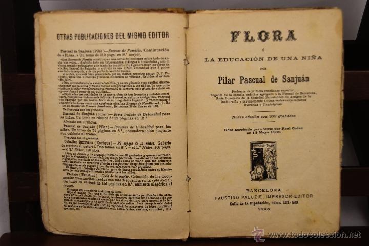Libros antiguos: 3910- ESCENAS DE FAMILIA Y FLORA. PILAR PASCUAL DE SAN JUAN. EDIT. PALUZIE. 1895/1898. 2 TITULOS. - Foto 2 - 39414192
