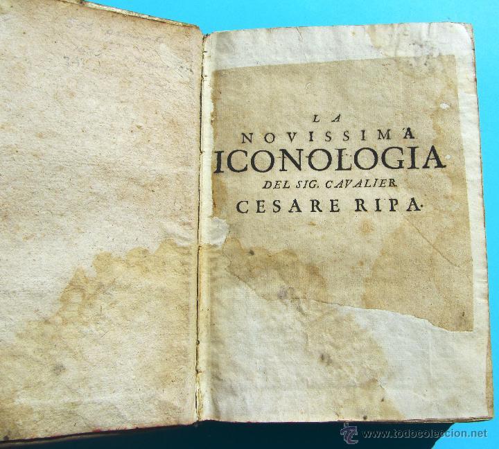 Libros antiguos: DELLA NOVISSIMA ICONOLOGIA DI CESARE RIPA PERUGINO. IN PADOVA, PER PIETRO PAOLO TOZZI, 1625. - Foto 2 - 39530549