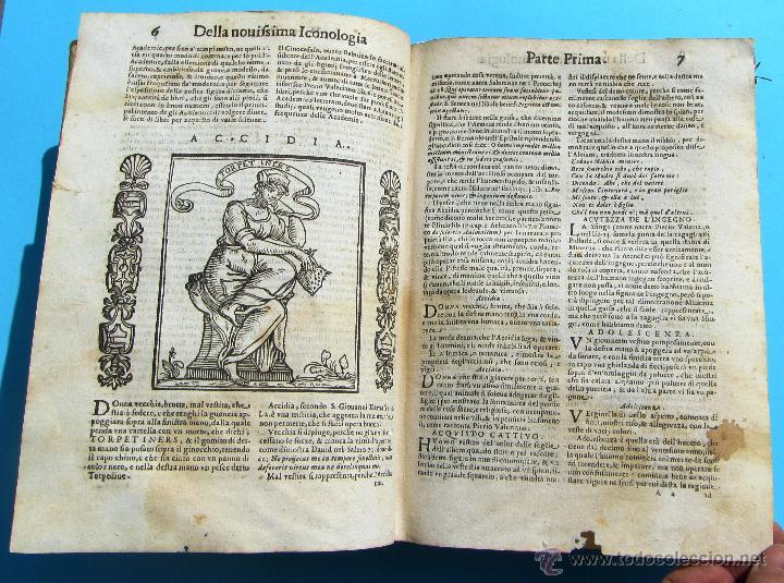 Libros antiguos: DELLA NOVISSIMA ICONOLOGIA DI CESARE RIPA PERUGINO. IN PADOVA, PER PIETRO PAOLO TOZZI, 1625. - Foto 5 - 39530549