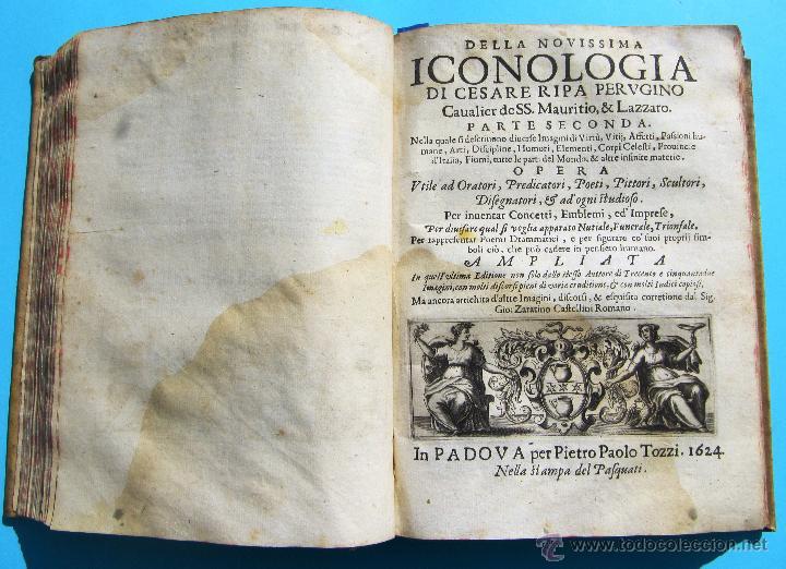 Libros antiguos: DELLA NOVISSIMA ICONOLOGIA DI CESARE RIPA PERUGINO. IN PADOVA, PER PIETRO PAOLO TOZZI, 1625. - Foto 11 - 39530549