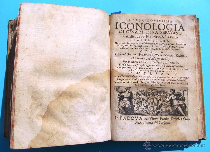 Libros antiguos: DELLA NOVISSIMA ICONOLOGIA DI CESARE RIPA PERUGINO. IN PADOVA, PER PIETRO PAOLO TOZZI, 1625. - Foto 15 - 39530549