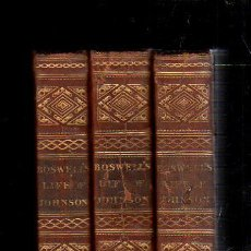 Libros antiguos: THE LIFE OF SAMUEL JOHNSON, LL.D BYJAMES BOSWELL, ESQ. 3 VOLUMENES DE 4. LONDRES, 1823. LEER. Lote 39469300