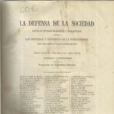 Libros antiguos: DEFENSA DE LA SOCIEDAD. JUAN BRAVO MURILLO. TOMO IV. EDI. JUAN AGUADO. MADRID. 1873. Lote 39471517