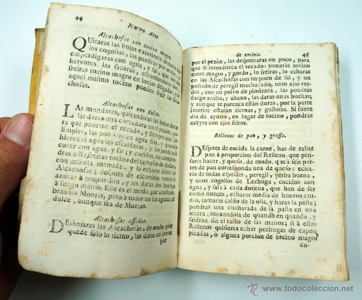 Libros antiguos: Nuevo arte de cocina, sacado de la escuela de la experiencia, Juan Altamiras, Gerona año 1770. - Foto 8 - 39514111