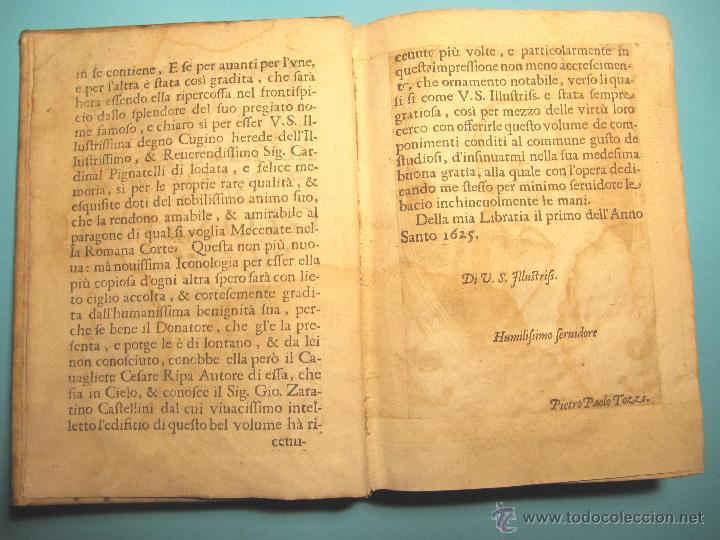 Libros antiguos: DELLA NOVISSIMA ICONOLOGIA DI CESARE RIPA PERUGINO. IN PADOVA, PER PIETRO PAOLO TOZZI, 1625. - Foto 3 - 39530549