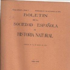 Libros antiguos: BOLETÍN DE LA SOCIEDAD ESPAÑOLA DE HISTORIA NATURAL. MUS. NACIONAL DE CIENCIAS NATURALES.MADRID.1934. Lote 39520372