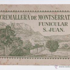 Libros antiguos: ALBUM CREMALLERA DE MONTSERRAT FUNICULAR S.JUAN FOT.ZERKOWITZ, AÑOS 20. Lote 39574086