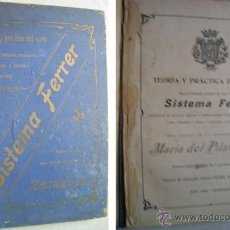 Libros antiguos: TEORÍA Y PRÁCTICA DEL CORTE. SISTEMA FERRER. FERRER, MARÍA DEL PILAR. 1908. Lote 39603236