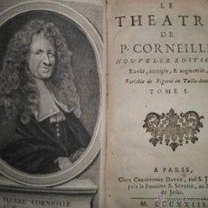 Libros antiguos: THEATRE DE PIERRE CORNEILLE, (TOMOS I-V), CINCO TOMOS, OBRA COMPLETA, 1723, PIERRE CORNEILLE.. Lote 39591246