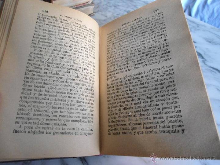 Libros antiguos: ZUMALACARREGUI EPISODIOS NACIONALES BENITO PEREZ GALDOS 1919 - Foto 2 - 39638905