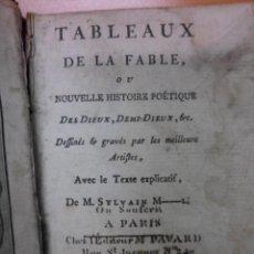 Libros antiguos: TABLEAUX DE LA FABLE, 1787, M. SYLVAIN. CONTIENE 1 FRONTISPICIO Y 2 GRABADOS. Lote 39736830