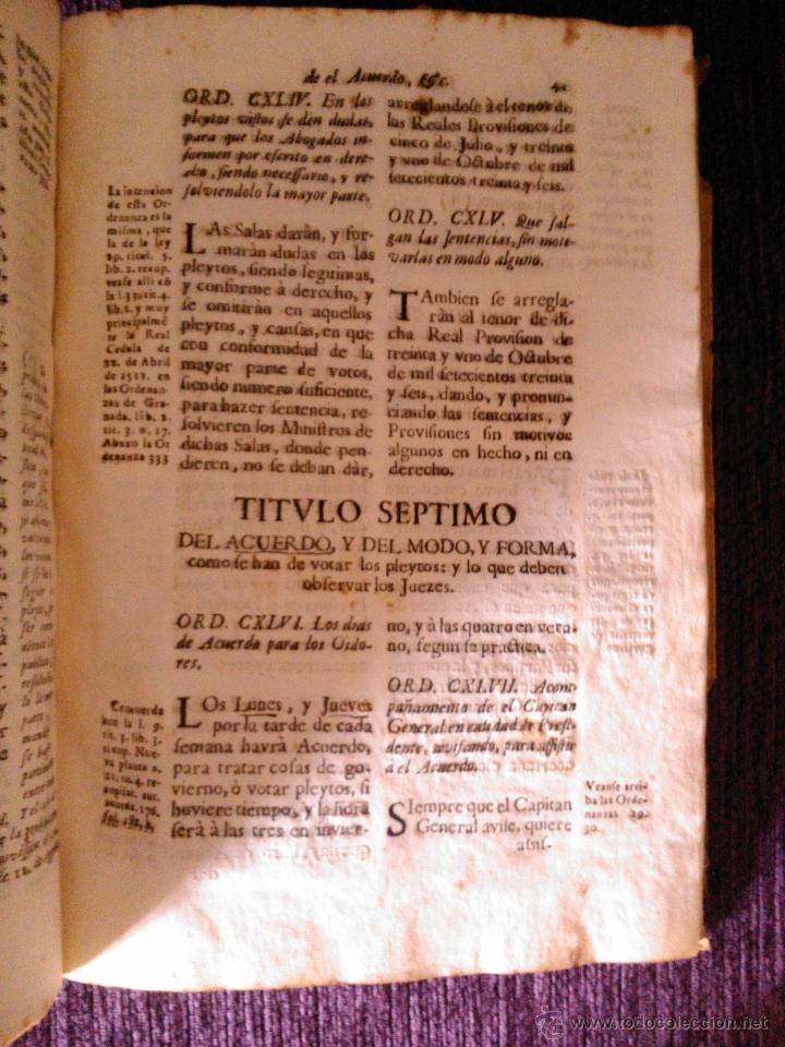Libros antiguos: ORDENANZAS DE LA REAL AUDIENCIA DE EL PRINCIPADO DE CATALUÑA 1742 - Foto 3 - 39659090