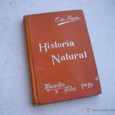 Libros antiguos: HISTORIA NATURAL - SUCESORES DE MANUEL SOLER EDITOR - 1905 APROX .. Lote 39674085