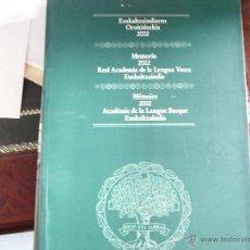 Alte Bücher - Memoria 2002. Real AcademiA de la lengua vasca. Euskaltzaindia. - 39682489