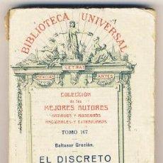 Libros antiguos: EL DISCRETO. BALTASAR GRACIÁN.. Lote 39723706