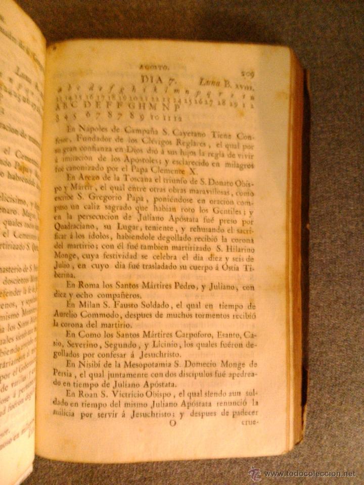 Libros antiguos: MARTIROLOGIO ROMANO, D. AGUSTIN ALVAREZ PATO Y CASTRILLON 1791 - Foto 3 - 39725885