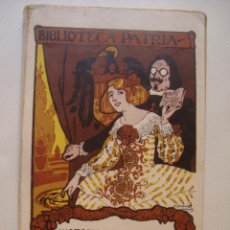 Libros antiguos: MEDARDO RIVAS - HISTORIA DE UNA ROSA. NOVELA ORIGINAL (BIBL. PATRIA, C. 1915). ¡ÚNICO EN TC!. Lote 39816527