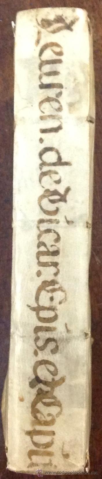 Libros antiguos: PETRI LEURENII. TRACTATUS QUATERNARIUS DE EPISCOPORUM VICARIIS.... VENETIIS, 1709. Enc. en pergamino - Foto 2 - 39824811