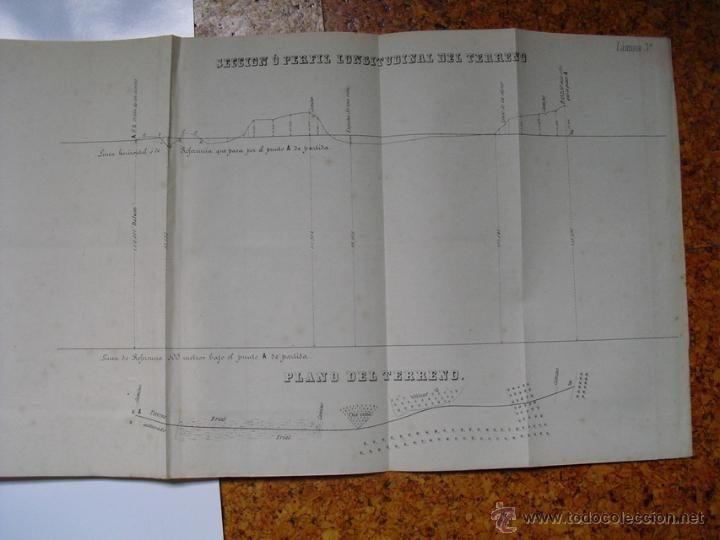 Libros antiguos: 1859 TRATADO PRACTICO DE NIVELACION D. VENANCIO DE LA TEJERA LÁMINAS ÚNICO 1ª EDICIÓN - Foto 7 - 39955104