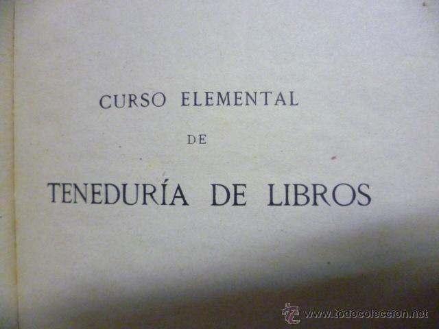Libros antiguos: TENEDURIA DE LIBROS - 1920 - Foto 2 - 40050416