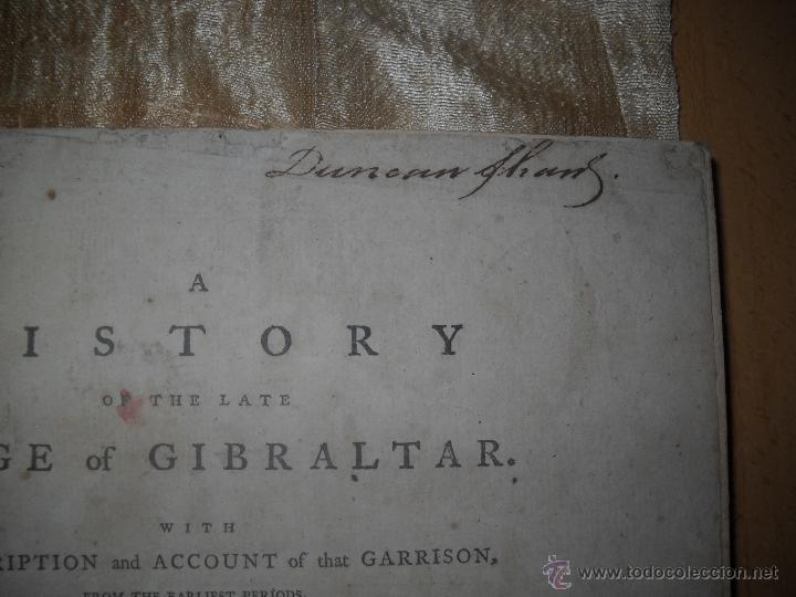 Libros antiguos: A HISTORY OF THE LATE SIEGE OF GIBRALTAR,DRINKWATER JOHN. - Foto 6 - 40059534