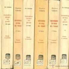 Libros antiguos: DOCTOR CABANES. COSTUMBRES ÍNTIMAS DEL PASADO. 8 SERIES. MADRID, 1928-1930.. Lote 40079908